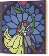 Beauty And The Beast Wood Print