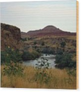 Beauty At The Big Horn River Wood Print