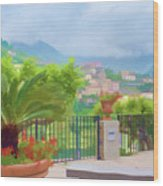 Beauty In Capri Wood Print