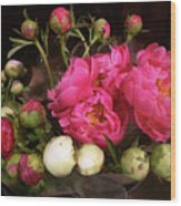 Beauty In The Whole Foods Flower Dept. Wood Print