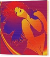 Beauty Is A Rainbow Red Wood Print