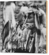 Pow Wow Beauty Of The Past Wood Print