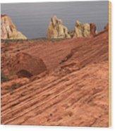 Beauty Of The Sandstone Landscape Wood Print
