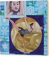 Beauty On Ice - Yu-na Kim Wood Print
