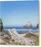 Beauty On The Pacific Coast Wood Print