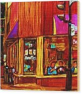 Beautys Luncheonette  Wood Print