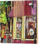 Beautys Luncheonette Montreal Diner Wood Print