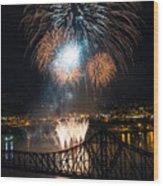 Beaver County Fireworks 2 Wood Print