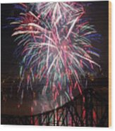 Beaver County Fireworks  Wood Print