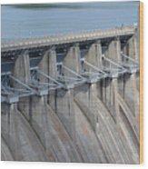 Beaver Dam Spillway Gates Wood Print