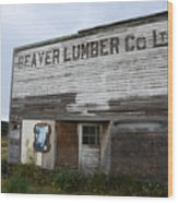 Beaver Lumber Company Ltd Robsart Wood Print