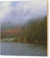 Beaver Pond Kinsman Notch Autumn Storm Wood Print