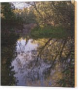 Beaver River Calm Reflection Wood Print