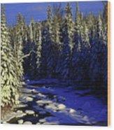 Beaver River Wood Print