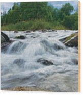 Beaver River Rapids Wood Print
