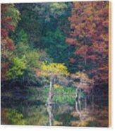 Beavers Bend Trees Wood Print