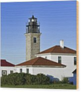 Beavertail Lighthouse Rhode Island Wood Print