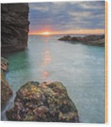 Beavertail Sunset Wood Print
