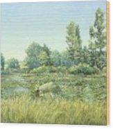 Beavor Pond Wood Print