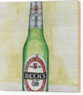 Becks Wood Print