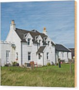 Iona Bed And Breakfast Two Wood Print