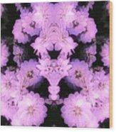 Bed Of Pink Dahlias Wood Print