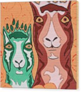Bedazzled Llamas Wood Print