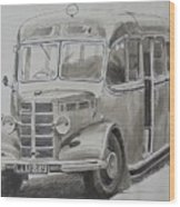 Bedford Ob Coach Of The Forties. Wood Print