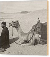 Bedouin At Prayer Wood Print