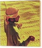 Bedouin Guide Wood Print by Elizabeth Hoskinson