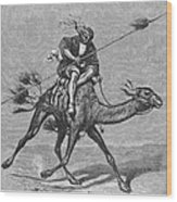 Bedouin Messenger Wood Print