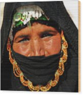 Bedouin Women Wood Print by Chaza Abou El Khair