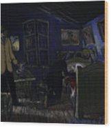 Bedroom In Arles By Night Wood Print