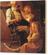 Bedtime Stories Wood Print