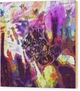Bee Close Insect Flower  Wood Print