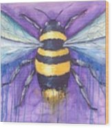 Bee For A Little Bee Wood Print