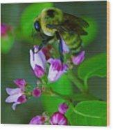 Bee Good 2 Wood Print