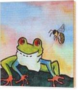 Bee Hoppy Wood Print