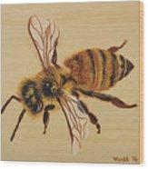 Bee Ix Delphine Wood Print