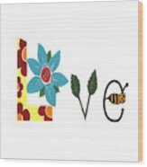 Bee Love Wood Print