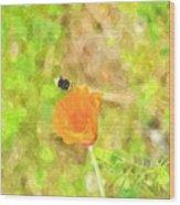 Bee My Flower Wood Print