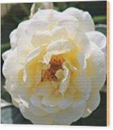 Bee My Rose Wood Print