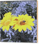Bee On The Yellow Wood Print