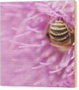 Bee The Moon Wood Print