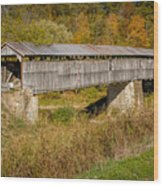 Beech Fork Or Mooresville Covered Bridge Wood Print