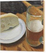 Beer And Jarlsberg Wood Print by Timothy Jones