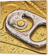 Beer Can Pull Tab Wood Print by Tom Mc Nemar