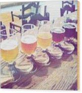 Beer Flight Wood Print