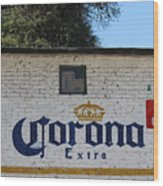 Beer In Mexico Wood Print
