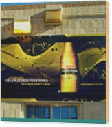 Beer Is Golden-america The Addicted Series Wood Print